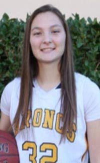 Kern Valley's Rebecca Gallis has been a frequent state stat star for the past three seasons. Photo: Courtesy family.